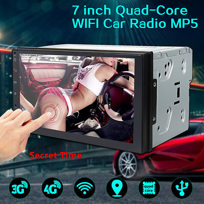 7'' Double 2 Din Android 6 Car Radio Stereo Quad Core MP5 Player GPS 3G 4G WiFi
