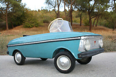 Russian Pedal Car Moskvitch Vintage Soviet Ussr Metal Toy Very Rare
