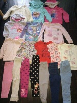 Girl's 18 item bundle of clothes, jumpers, tops, paw patrol/frozen/peppa 3-4 yrs