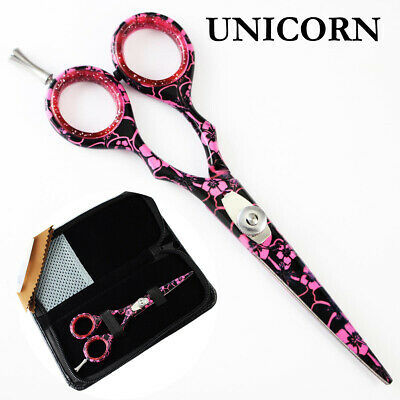 Professional Hairdressing Scissors Salon Hair Cutting Shears PINK FLOWER