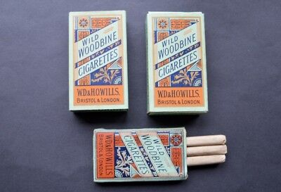 Three old Woodbine packets WW1 1920's one with full contents