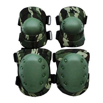 Tactical Knee & Elbow Pads Set Sports Paintball Combat Protection Pads