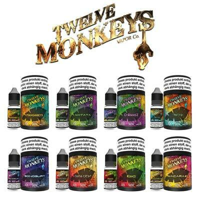 Twelve Monkeys Premium E-Liquid 30ml für E-Zigaretten 3 x 10ml Nikotin 0/3/6 mg