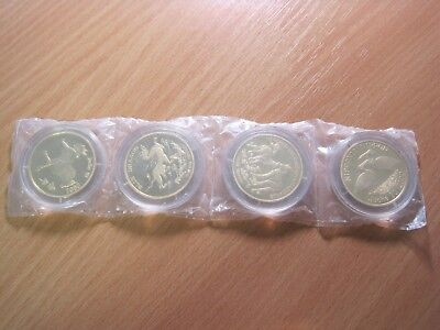 4x20 Won 2000-2002 Korea - Animals (4 coins)