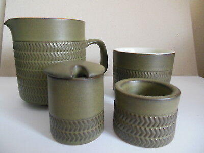 Denby Chevron Milk Jug /sugar Bowl / Mustard Pot/ Egg Cup