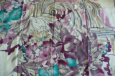 STUNNING 100% SILK PASHMINA FLORAL SCARF  Bought In China new