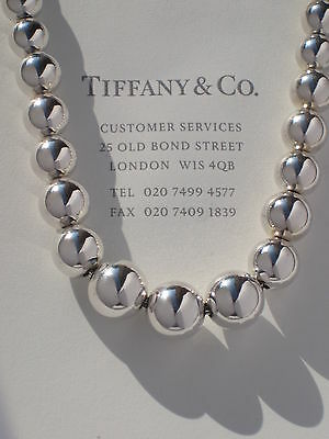 TIFFANY & Co graduée PERLE Collier en argent fin