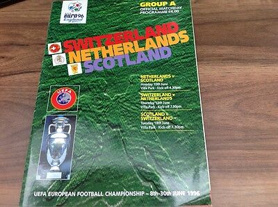 Euro 96 Football programme group A with match ticket