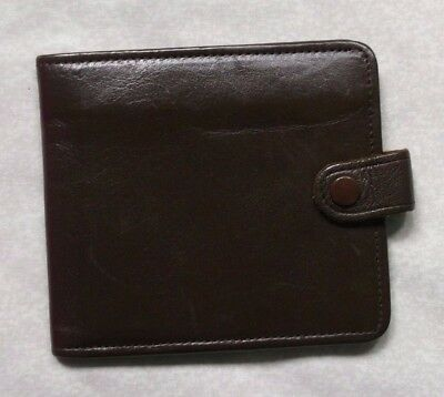 REAL LEATHER BROWN VINTAGE WALLET BI-FOLD CARDS NOTES 1970s 1980s BRITAIN MADE