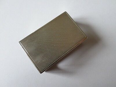 Hallmarked 1933 sterling silver matchbox cover holder 14 grams