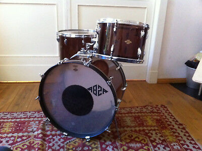 "Asba Vintage Drumset Acryl 1973  22""13""16""incl. Tomholder"