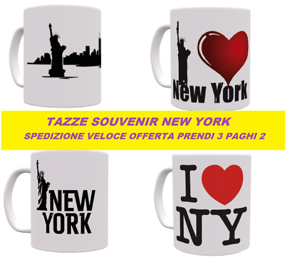 Tazza New york NY città america grande mela big apple city of america lavabile