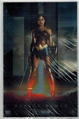 Wonder Woman #31 Nycc Gal Gadot Jla Photo Silver Foil Exclusive Variant Cover