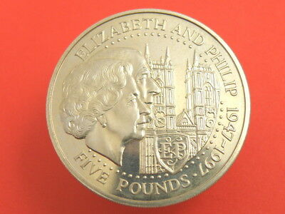 Guernsey 1997 Uncirculated £5 Five Pounds Crown Coin
