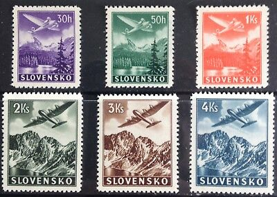 Slovakia 1939 Airmail issues MLH