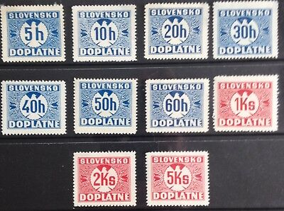 Slovakia 1939 Postage Due issues MLH