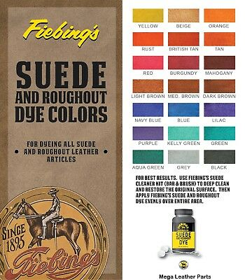 Fiebing's Suede Dyes, Stains and Antique Finishes Color All Colour