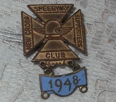 Vintage Metal Speedway Badge with enamel bar for 1948 -  New Cross Rangers