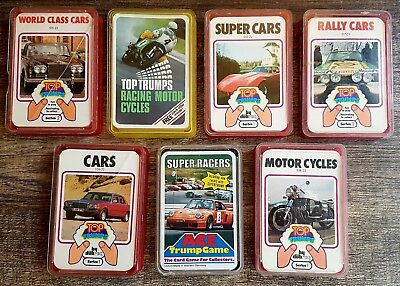 vintage top trumps joblot classic bundle super cars super bikes motor cycles +