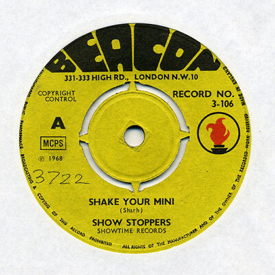 """SHOW STOPPERS """"Shake Your Mini"""" Authentic UK issue on BEACON"""