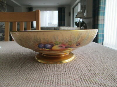 Aynsley  Orchard Gold Design Footed Fruit Bowl Centre Piece Signed N Brunt