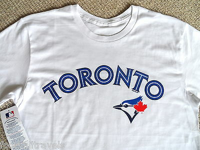 M L XL BLUE JAYS TORONTO OFFICIAL MLB Baseball T Shirt NEW Cotton Canada