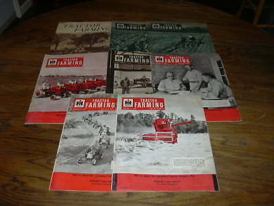INTERNATIONAL HARVESTER  TRACTOR FARMING  8 ISSUES  1953 to 1958