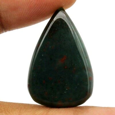 15.10 cts Natural Top Quality Bloodstone Untreated Gemstone Pear Loose Cabochon
