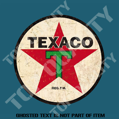 VINTAGE TEXACO GASOLINE PETROL OIL Decal Sticker Vintage Hot Rod Stickers