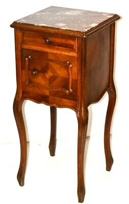 French 19th Century Carved Walnut Bedside Cabinet or Pot Cupboard [PL3332]