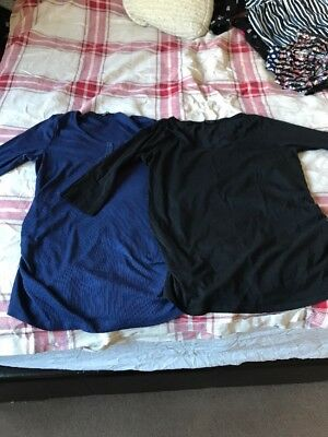 Two New Look Maternity Tops Size 16