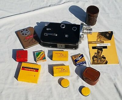 Kodak - K-100 Turret With Lots of Accessories and Leather Case - 16MM