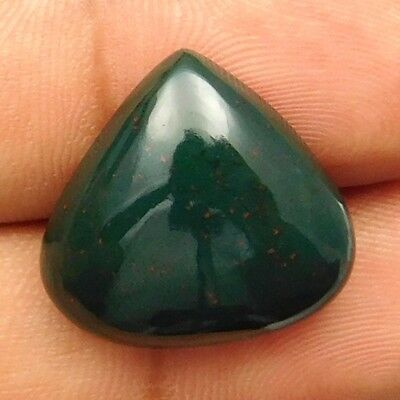 15.90 cts Natural Untreated Green Bloodstone Heart Shape Loose Gemstone Cabochon