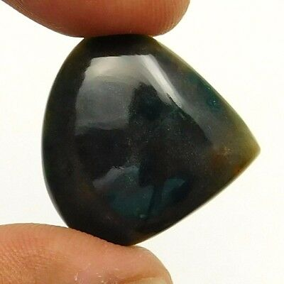 19.20 cts Natural Untreated Green Bloodstone Heart Shape Loose Gemstone Cabochon
