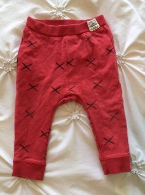 Zara Baby Boy Red And Black X Trousers, Size 12/18 Months
