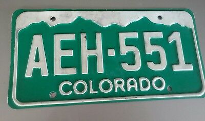 Vintage  Colorado License Plate All original green and white vanity