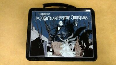 Neca Disney Nightmare Before Christmas Metal Lunch Pail With Thermos New
