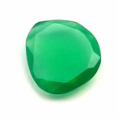 8.80 cts 100% Natural Green Onyx Fancy Shape Both side Faceted Loose Gemstone