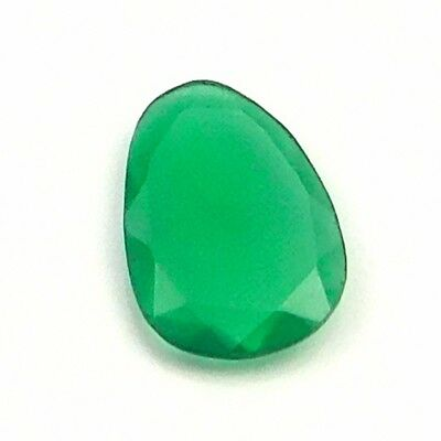 7 cts 100% Natural Green Onyx Fancy Shape Both side Faceted Loose Gemstone