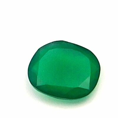 8.30 cts 100% Natural Green Onyx Fancy Shape Both side Faceted Loose Gemstone