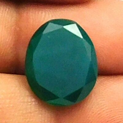 6.60 cts 100% Natural Green Onyx Fancy Shape Both side Faceted Loose Gemstone