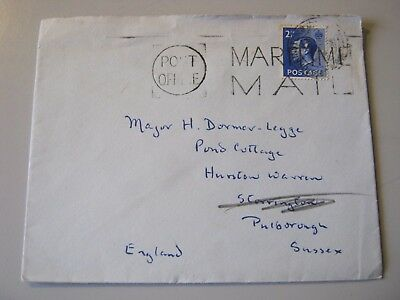 GB KEVIII  2 1/2 BLUE on COVER - MARITIME MAIL from the ORIENT LINE