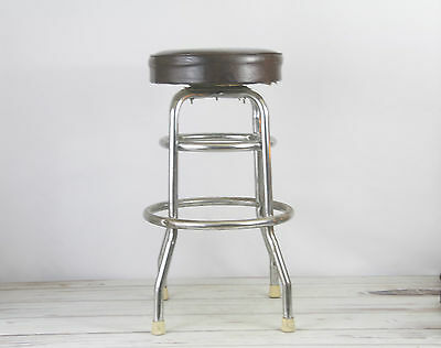 Vintage Mid Century Vinyl And Chrome Bar Stool 2 Available This Listing Is For 1
