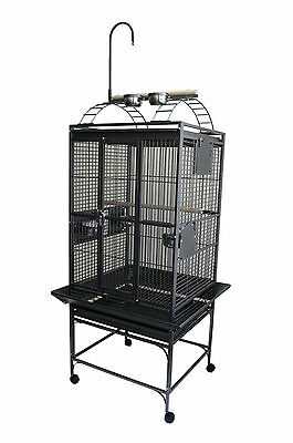 "NEW 24""X22"" Parrot Cage with Play Top and Toy Hanger for medium size bird parrot"