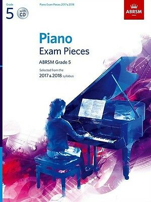 Grade 5  PIANO EXAM PIECES 2017 - 18  ABRSM Music Book with CD