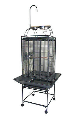 "20"" Play Top Parrot Bird Cage with Toy Hanger Cockatiel Conure Quaker Parakeet"