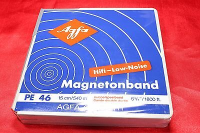 """+ NEW ++ 1 ORIGINAL AGFA PE 46 DOUBLE PLAY TAPE 5 3/4""""; 1800 ft ++ NEW = NOS ++"""