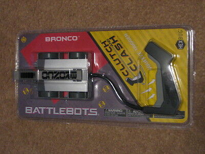 HEXBUG BATTLEBOTS Bronco Clutch & Clash NIP