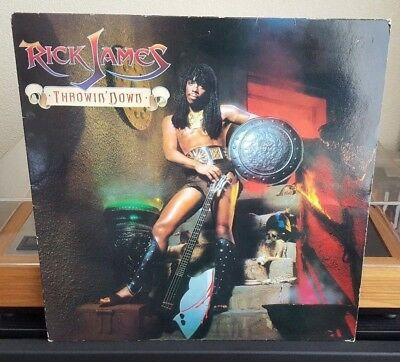 Rick James - Throwin' Down Vinyl LP Motown (Temptations, Teena Marie, Roy Ayers)