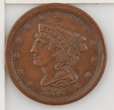 1855 Braided Hair Half Cent *Z77
